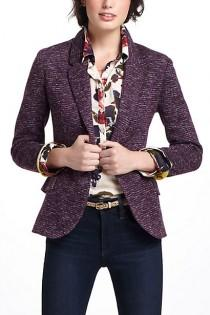 wedding photo - Dashes Knit Blazer - B