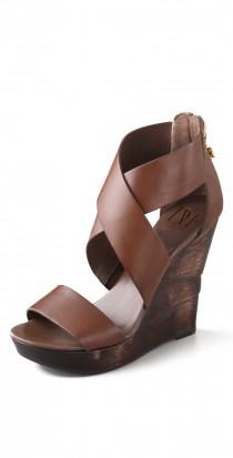 wedding photo - Opal Crisscross Wedge Sanda...