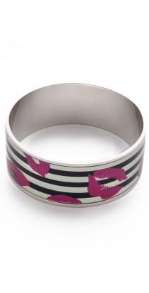 wedding photo -  Lips Print Bangle
