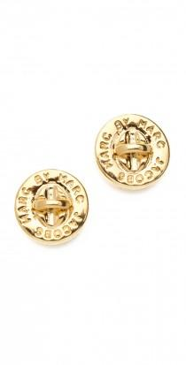 wedding photo -  Turnlock Stud Earrings