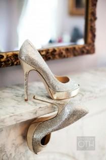 wedding photo - Fashionable Wedding Shoes ♥ Sparkly Wedding High Heels