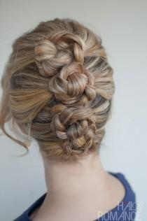 wedding photo -  Unique Braid Updo Hairstyle ♥ Easy Wedding Hairstyle