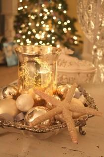 wedding photo -  Christmas Table Decorations ♥ Shabby Wedding Table Centerpieces
