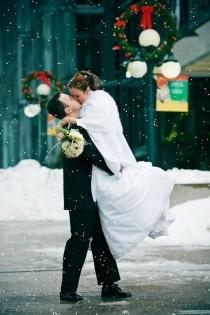 wedding photo -  Romantic Christmas Wedding Photography ♥ Snowy Winter Weddings