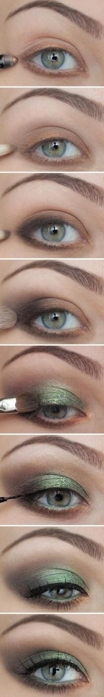wedding photo - Maquillage de mariée Meilleur ♥ Green Eye Smokey Maquillage