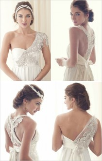 wedding photo - Hand-beaded Embroidered Wedding Dresses by Anna Cambpell