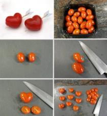 wedding photo - Valentinstag Food Ideas ♥ Herz Tomato Tutorial