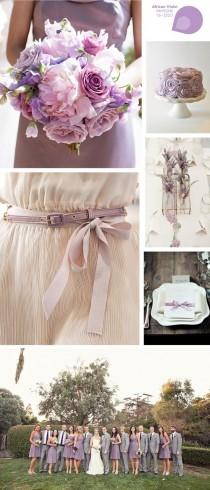 wedding photo -  Violet Wedding Theme ♥ Lavender Wedding Inspiration