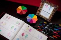 wedding photo - Unique and Creative Wedding Fingerprint Guestbook Idea