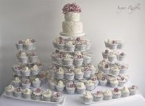 wedding photo - Ivory & Amnesia Rose Cupcake Tower