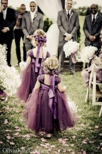 wedding photo - Purple-flower-girls-wedding