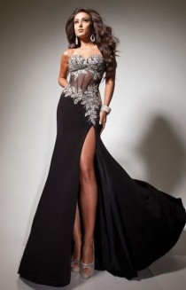 wedding photo - Hot Sexy Black Long Formal Ball Gown Pageant Maxi Gown Party Prom Evening Dress