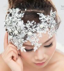 wedding photo - الجبهة الزفاف الزفاف حجر الراين كريستال تيارا الشعر العصابة الرباط زين
