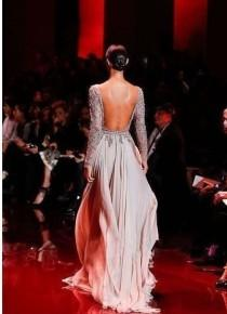 wedding photo - New Sexy Backless Party Celebrity Dress Prom Formal Pageant Evening Gown Custom