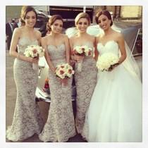 wedding photo - Cordón de la sirena Sash vestidos de dama formal largo de noche del partido de baile vestido de bola