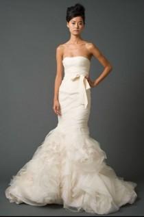 wedding photo - Silk Mermaid Fishtail Sample Wedding Dress Bridal Gown 'Gemma' Clearance