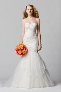 wedding photo - Mermaid New Lace And Tulle Ivory/White Wedding Dress Cutom Size 6 8 10 12 14 16