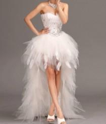wedding photo - New White Ivory Wedding Dress Bridal Gown Size 4 6 8 10 12 14 16 18 20 Custom