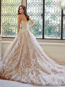 wedding photo - 2014 Newly Charming Wonderful Top Grade Mermaid Design Wedding Dress Custom Made