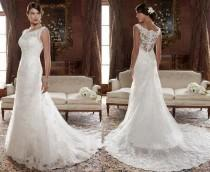 wedding photo - New White/ivory Lace Wedding Dress Bridal Gown Custom Size 4 6 8 10 12 14 16 18