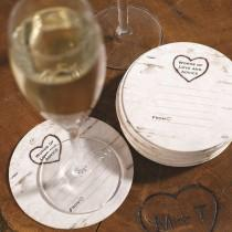 wedding photo - Hortense Advice For The Bride & Groom Rustic Vintage Drink Coasters Set Of 25