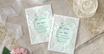 wedding photo - Rustic Garden Laser Cut Pocket IWP14032-GR - Wedding Invitation Sample (IWP14032-GR)