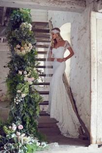 wedding photo - New Gorgeous Lace Wedding Dress Mermaid Bridal Gown Custom Size 6 8 10 12 14 16
