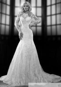 wedding photo - 2014 New White/Ivory Wedding Dress Bridal Gown Size 4 6 8 10 12 14 16 18 20
