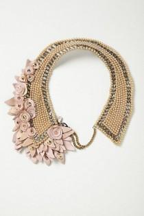 wedding photo - Blushing Pearl Bib Necklace