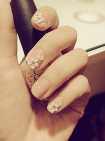 wedding photo - 18 Elegant Wedding Nail Trend Designs – Best Simple New Home French Manicure