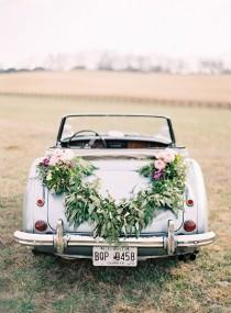 wedding photo - Fab Wedding Getaway Car
