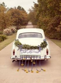 wedding photo - 15 Fab Just Married Car Ideas