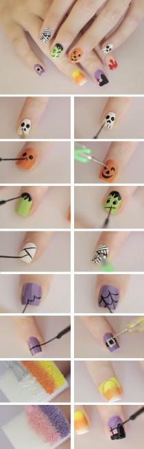 wedding photo - 23 Spooky Nail Art Ideas For Halloween