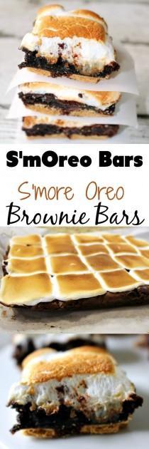 wedding photo - S'mOreos - S'more Oreo Brownie Bar