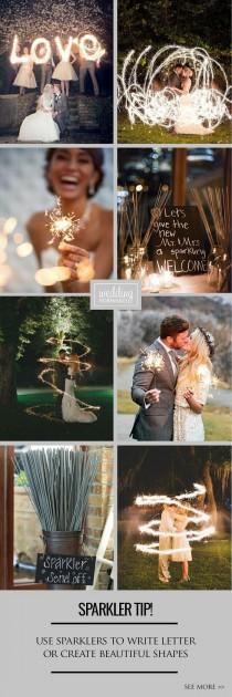 wedding photo - 4 Sparkler Photo Ideas & Tips