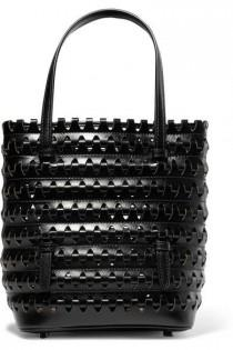 wedding photo - Alaïa - Laser-cut Woven Leather Tote