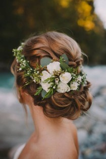 wedding photo - Updo Wedding Hairstyles With Flowers
