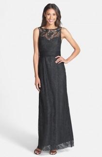 wedding photo - Amsale Illusion Yoke Lace Gown
