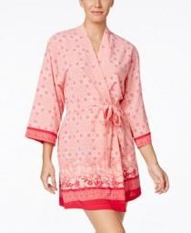 wedding photo - Oscar de la Renta Oscar de la Renta Border-Print Robe