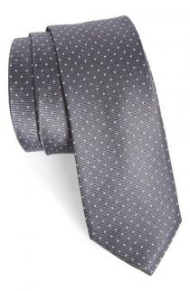 wedding photo - The Tie Bar Dot Silk Tie