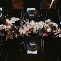wedding photo - decorated table