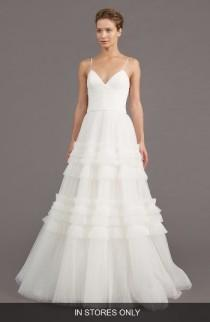 wedding photo - Amsale Saylor Ruffle A-Line Gown (In Stores Only)
