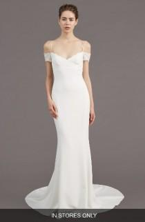 wedding photo - Amsale Mel Off the Shoulder Trumpet Gown (In Stores Only)