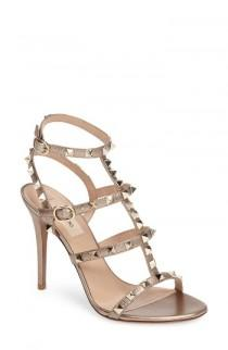 wedding photo - Valentino 'Rockstud' Ankle Strap Sandal (Women)