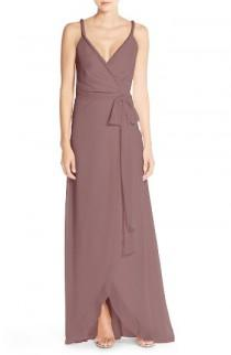 wedding photo - Ceremony by Joanna August 'Parker' Twist Strap Chiffon Wrap Gown