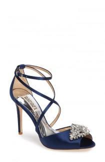 wedding photo - Badgley Mischka Tatum Embellished Strappy Sandal (Women)
