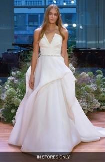 wedding photo - Monique Lhuillier Emerson Strapless Notch Silk Gazar Ballgown (In Stores Only)