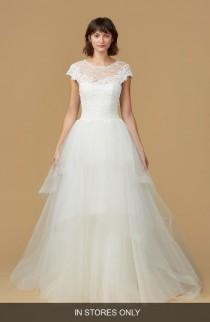 wedding photo - nouvelle AMSALE Natasha Lace & Horsehair Tulle Ballgown (In Stores Only)