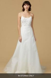 wedding photo - nouvelle AMSALE Viv Lace Appliqué Silk Organza A-Line Gown (In Stores Only)