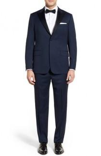 wedding photo - Hickey Freeman 'Tailor's Gold' Classic Fit Wool Tuxedo